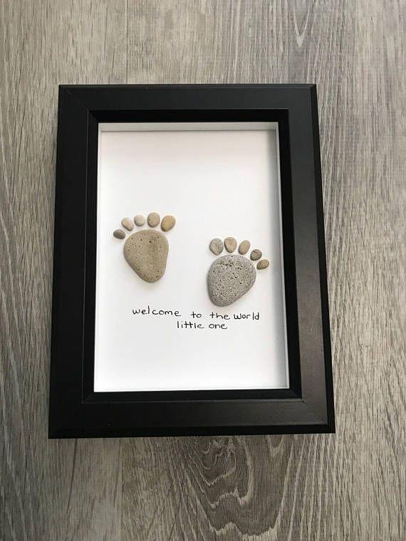 PEBBLE ART BABY Feet - huronshoreart
