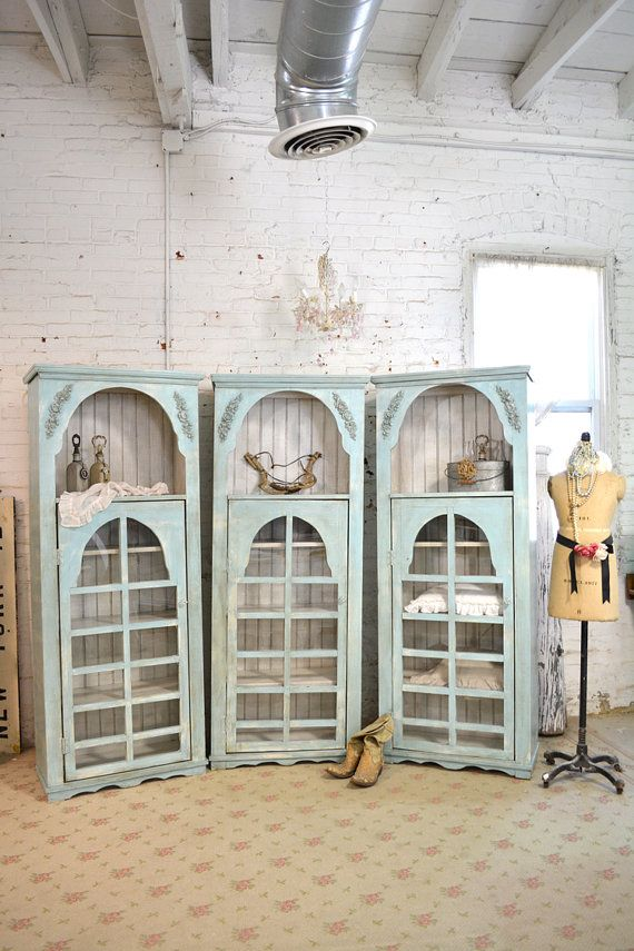 Painted Cottage Chic Shabby Aqua Handmade by paintedcottages