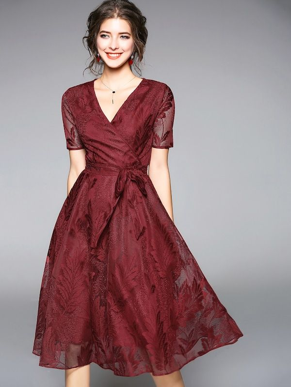 $29 Shein (With images)  Embroidered lace dress, Dresses, Lace dress
