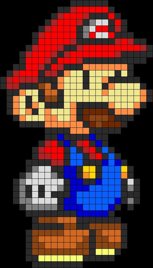 Mario Perler Bead Pattern Bead Sprite Pixel Art Perler
