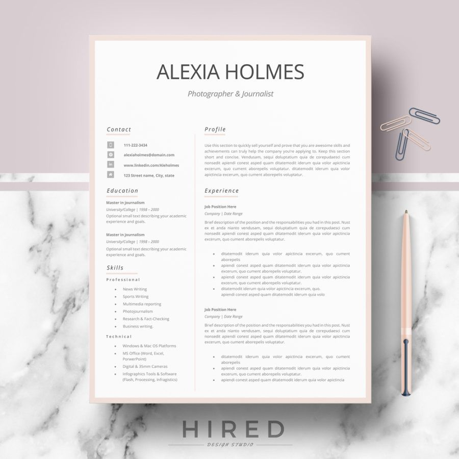 Contemporary Resume Templates Professional Modern And Minimalist Resume Template For Ms Word