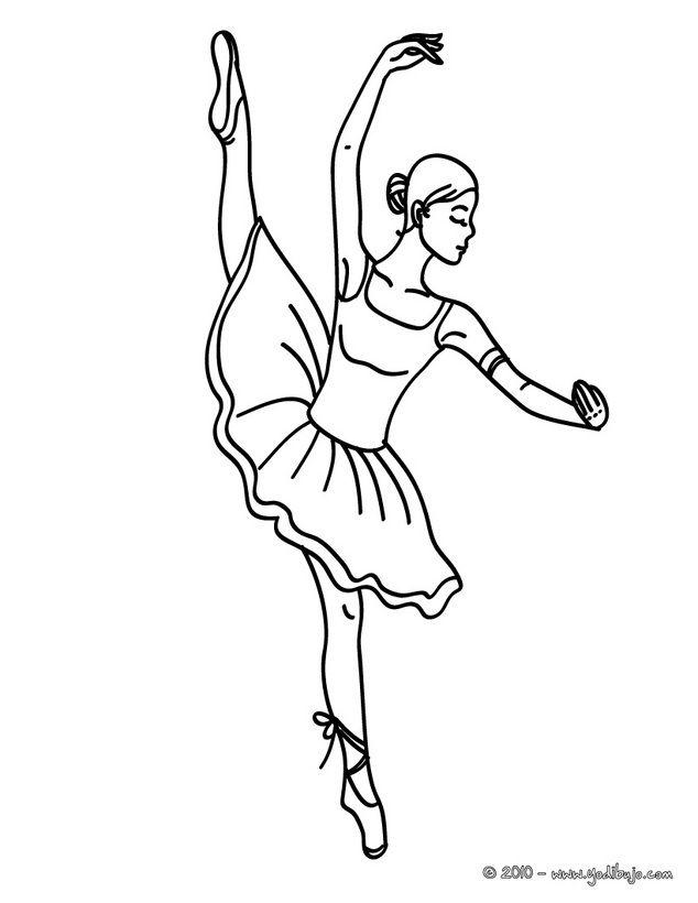 Dibujo de bailarina bailando para colorear | Ballet Embroidery and ...