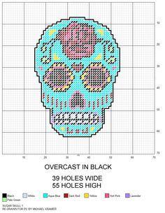 photograph regarding Free Printable Halloween Plastic Canvas Patterns identify no cost printable plastic canvas routines skulls - Google