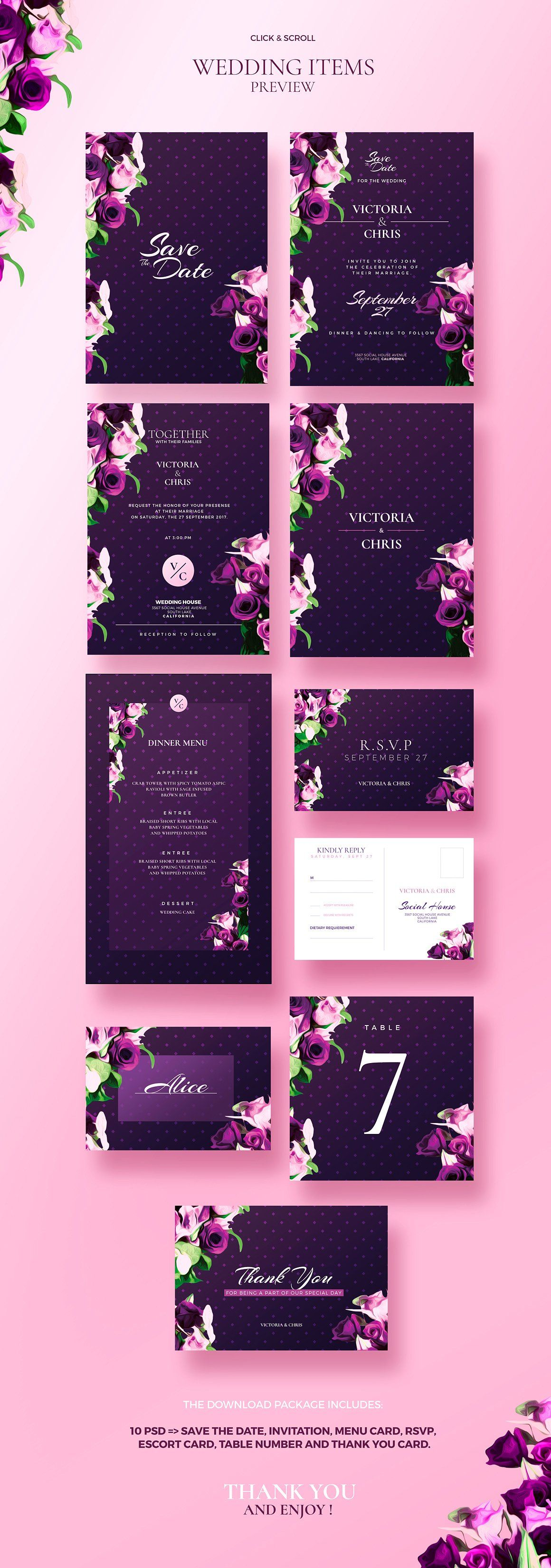Modern Wedding Collection Invitations Invitations - Save the date flyer template
