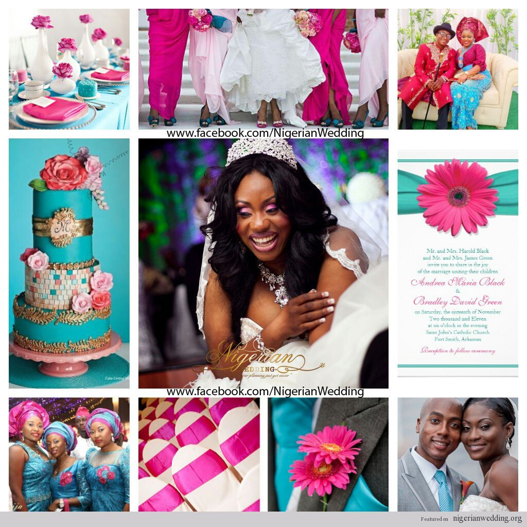 Nigerian Wedding Colors White Fuchsia Pink