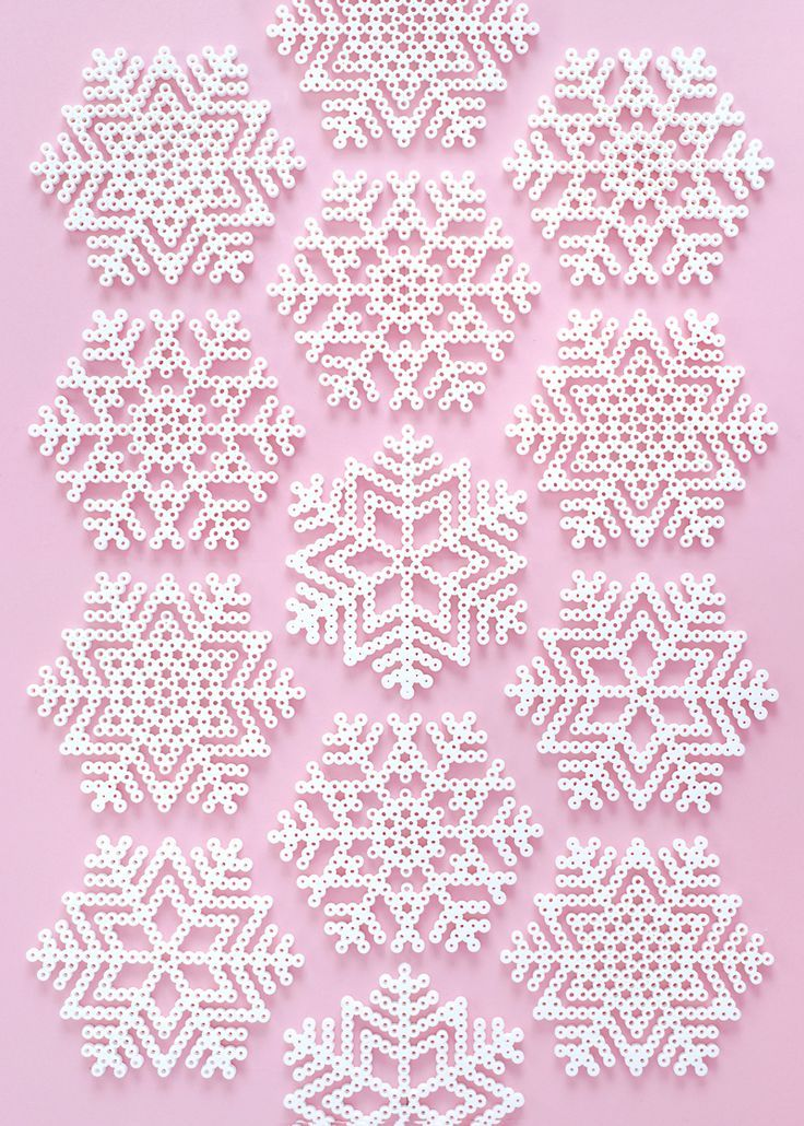 Christmas Perler Bead Patterns Snowflakes & Fun