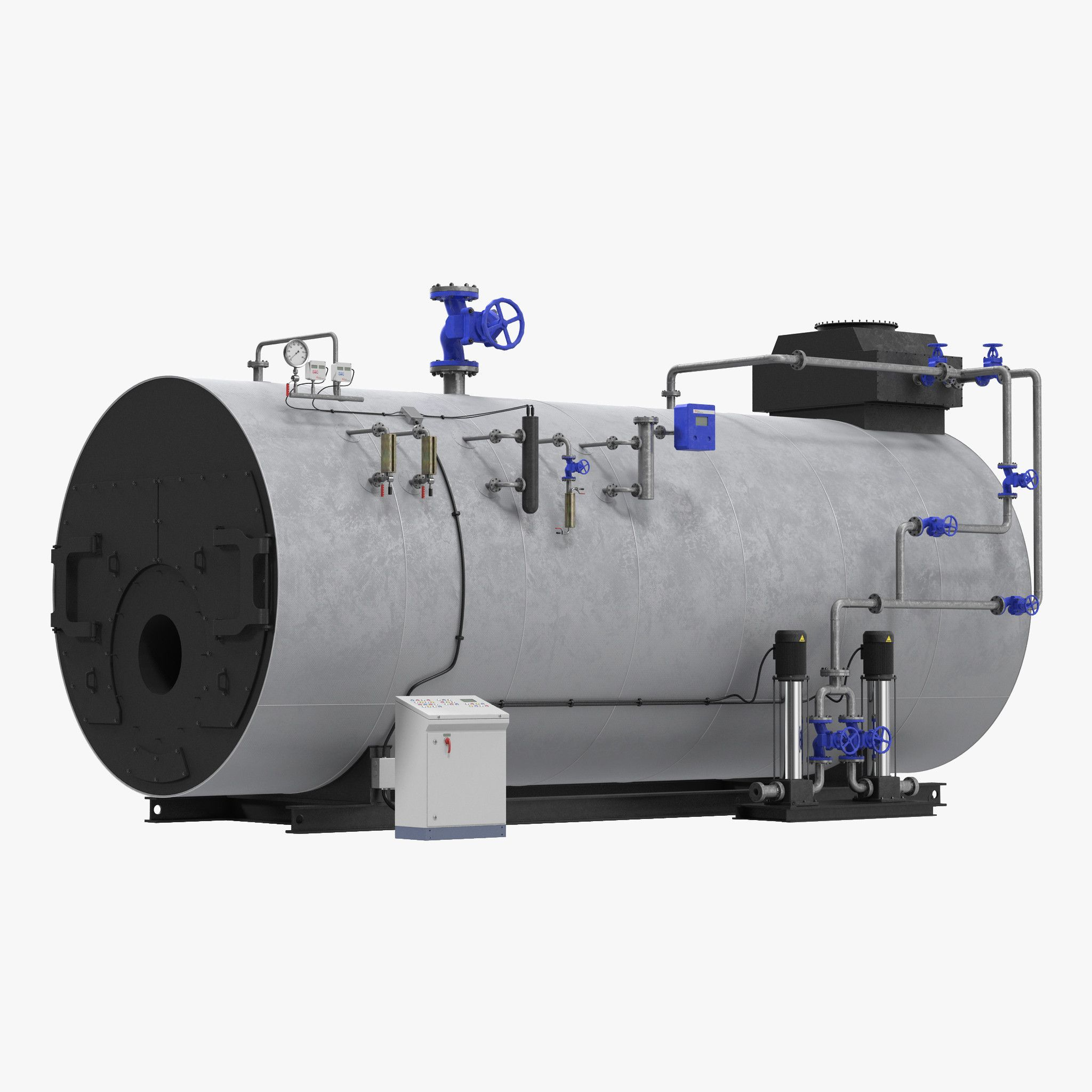 Industrial Gas Steam Generator 3D Model 3D Model