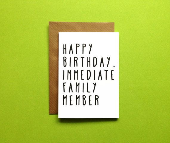 A6 happy birthday immediate family member card by sarahburnsprints a6 happy birthday immediate family member card by sarahburnsprints m4hsunfo