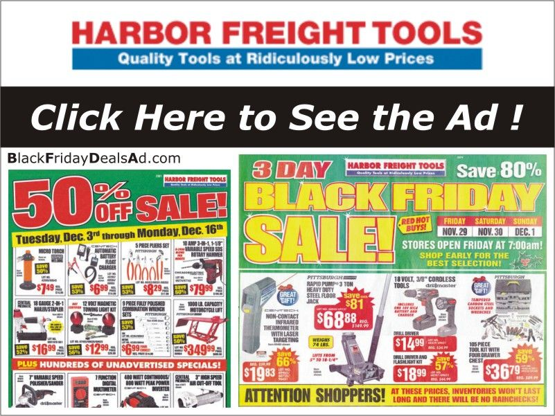 Harbor Freight Cyber Monday 2019 Deals Get Excited