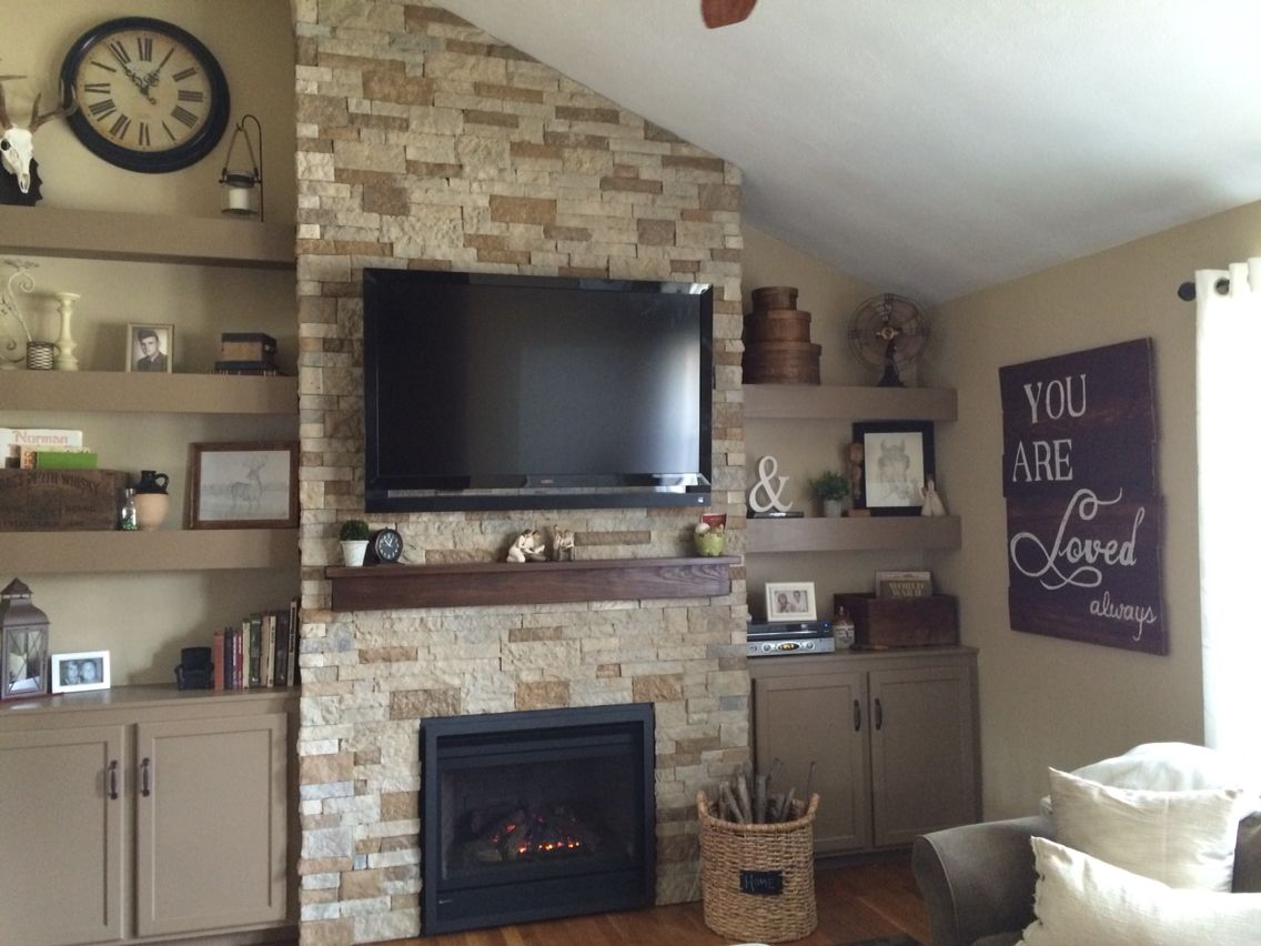 airstone autumn mountain wall with regency fireplace insert for