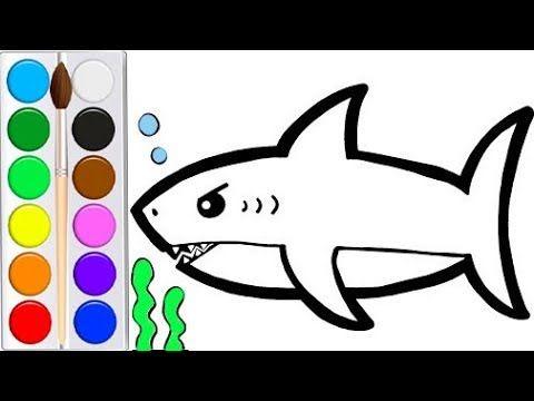 Как нарисовать АКУЛУ мультик раскраска АКУЛА для детей ...