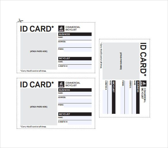id card word template