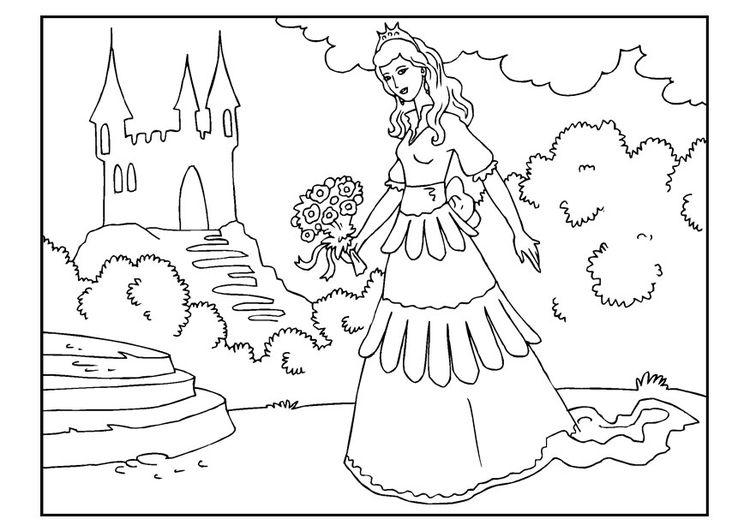 Malvorlage Prinzessin Mit Blumen Malvorlage Prinzessin Malvorlagen Blumen Ausmalbilder