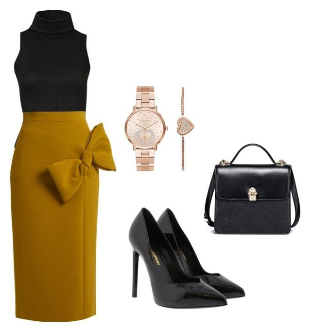 """""""Outfit"""" by sara-stylee ❤ liked on Polyvore featuring Roksanda, Yves Saint Laurent and Michael Kors"""