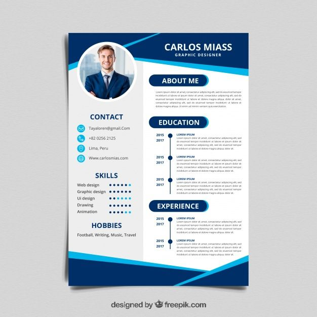 Curriculum Template Free Vector Curriculum Template Resume Design Free Resume Design Template