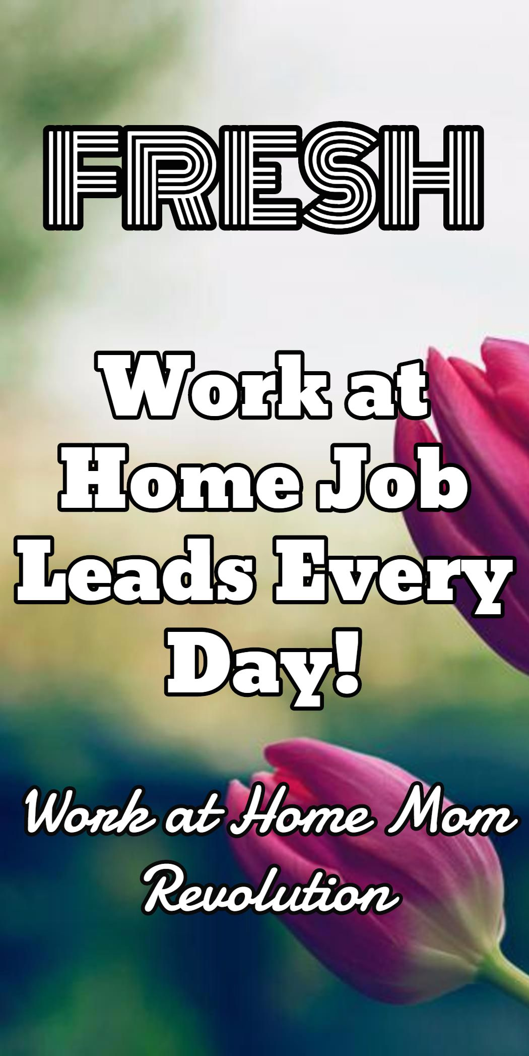Work at Home Job Leads Every Day Work at Home Mom Revolution