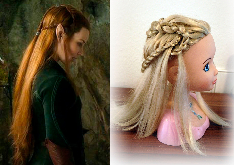 Tauriel Hair Tutorial   Tauriel Hair Tutorial   Hair, Hair styles ...