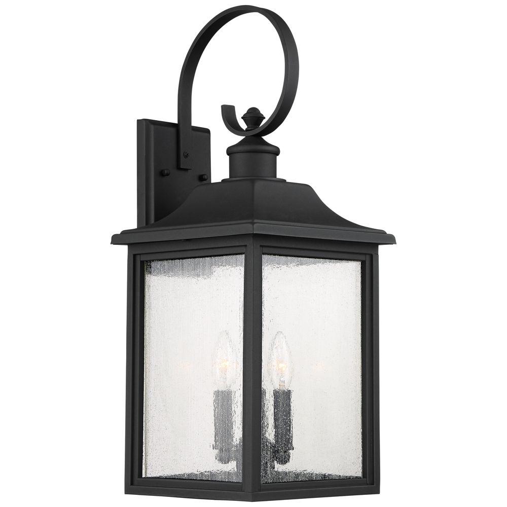 Moray Bay 24 High Black 3 Light Outdoor Wall Light Style