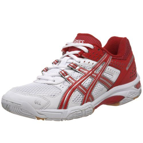 Asics Women S Gel Rocket 5 Volleyball Shoe White Red 8 5 Shoe
