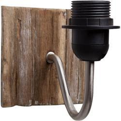 Photo of Hjem Sweet Home Wandleuchte Driftwood (40 W, Farbe: Dunkelbraun, B x H: 13 x 12 …
