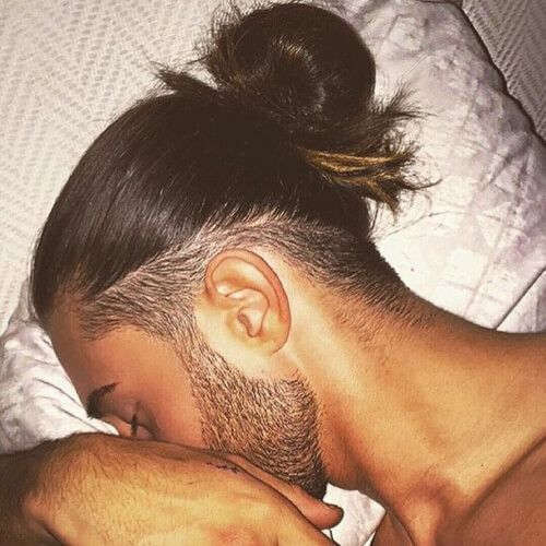 Low Fade Man Bun Hairstyle Bun Fade Hairstyle Man Man Bun Hairstyles Undercut Long Hair Long Hair Styles