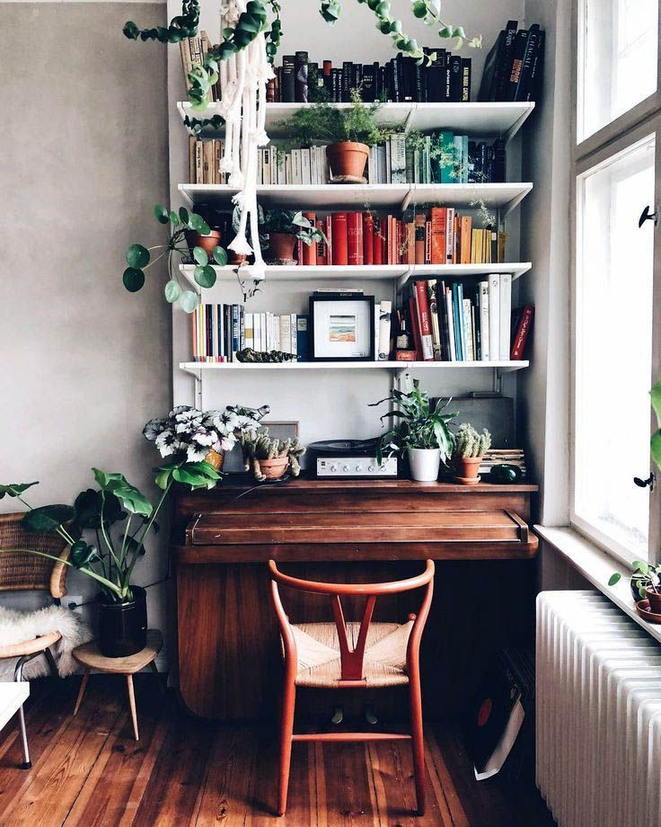 40 Rustic Living Room Ideas To Fashion Your Revamp Around: 39 Stunning Bookshelves Ideas For Bedroom Decoration
