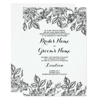 elegant floral wedding card