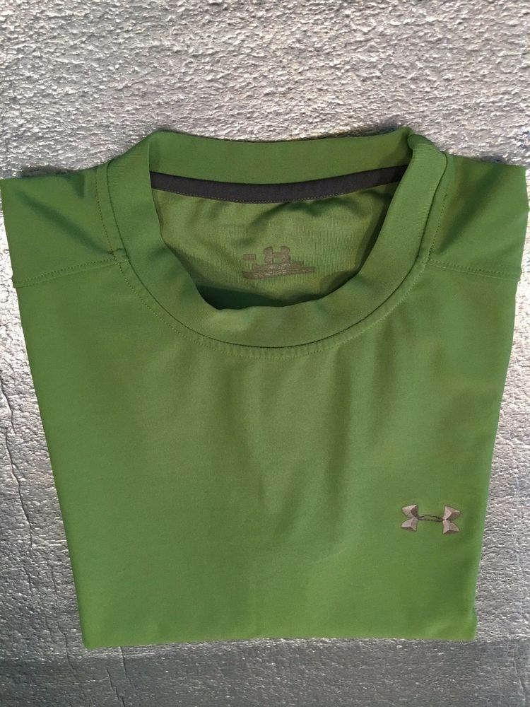 Men's UNDER ARMOUR Sleeveless T-Shirt  - Lime Green - Size M #UnderArmour #BasicTee