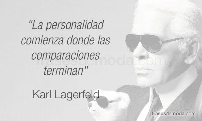 Frase De Moda Del Diseñador Karl Lagerfeld Moda Frases