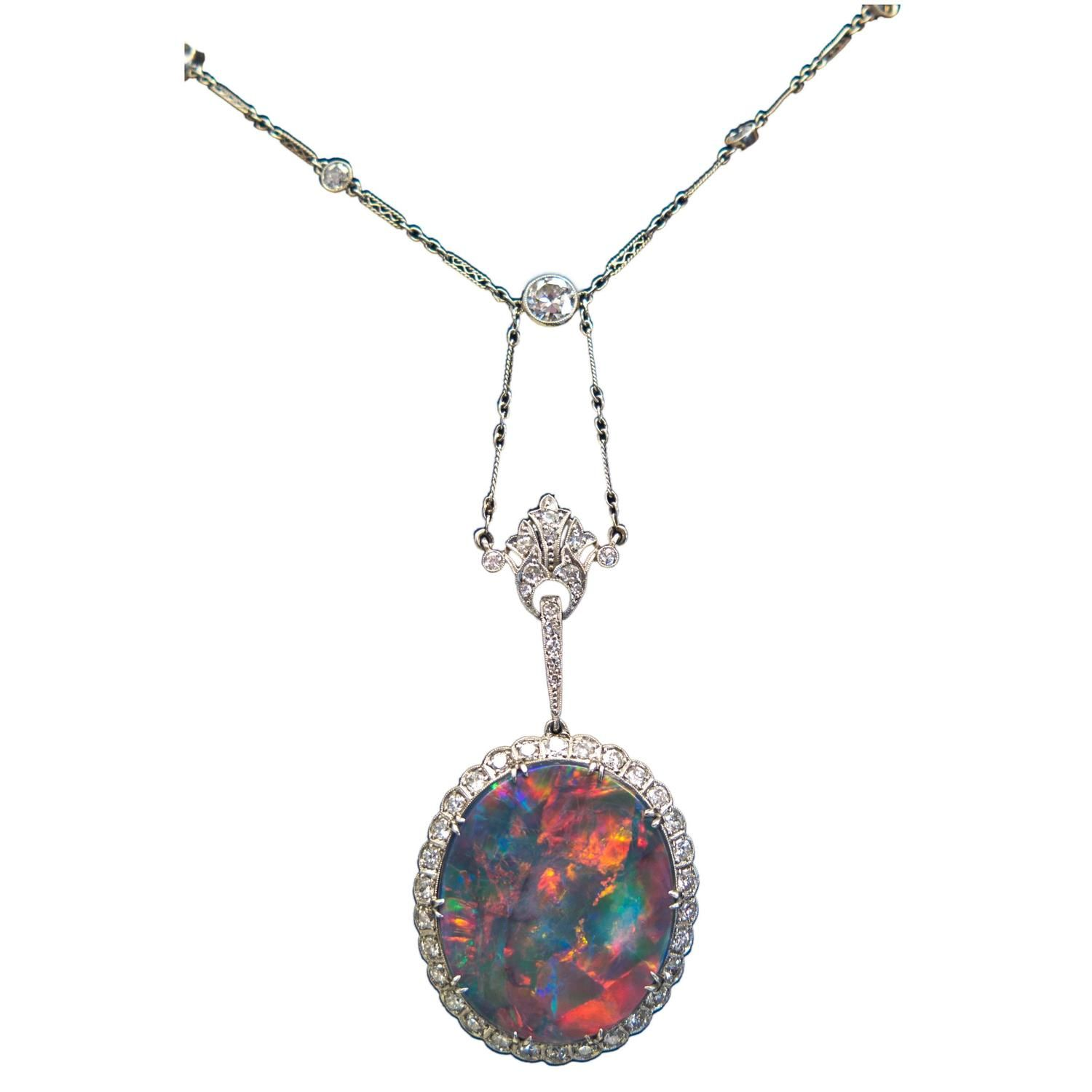 necklaces etal necklace australian opal black e anita g store pendant gold close melbourne crowther