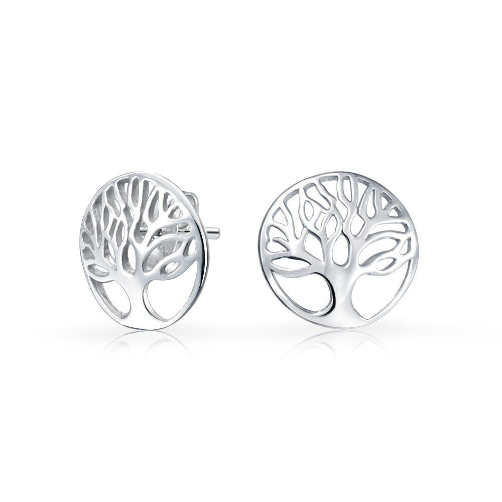Sterling Silver Celtic Round Post Earrings