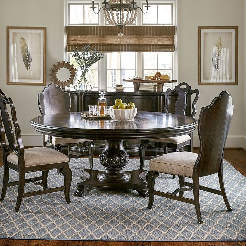 elegance design 72 round dining table | Continental 72 Inch Round Dining Room Set (Melange) in ...