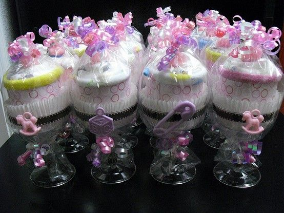 Diaper Baby Towels Cupcakes
