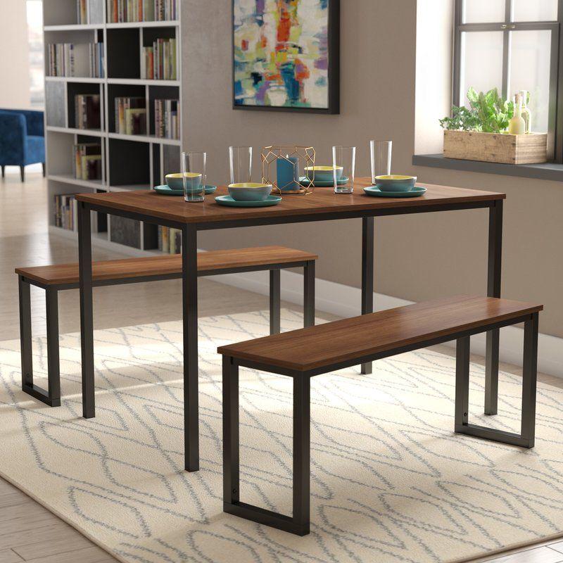 Frida 3 Piece Dining Set Dining Room Sets Dining Table Solid