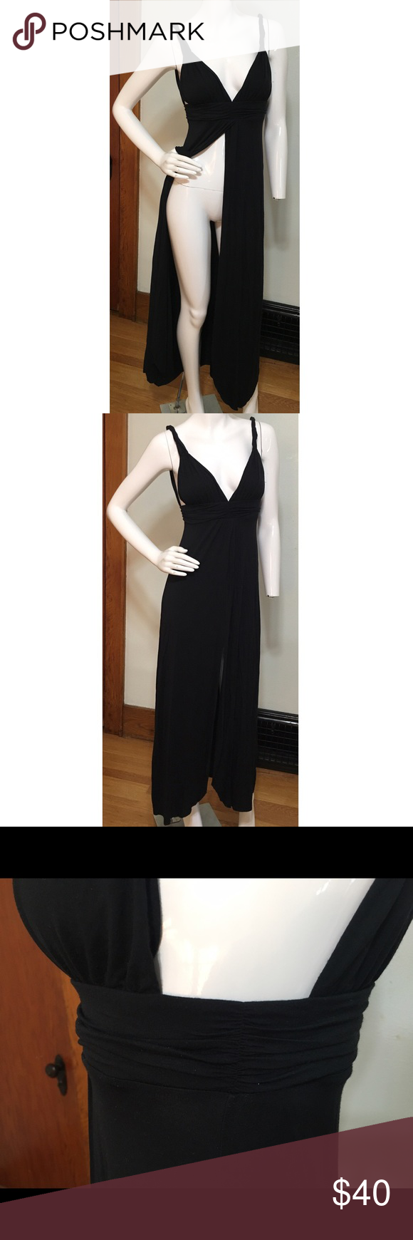 Victoria's Secret swim coverup Soft, black swim coverup. The length is long. Please feel free to ask questions! This was worn on one occasion. Victoria's Secret Swim Coverups