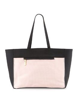 V255B French Connection Perforation Celebration Tote Bag, Dusty Pink