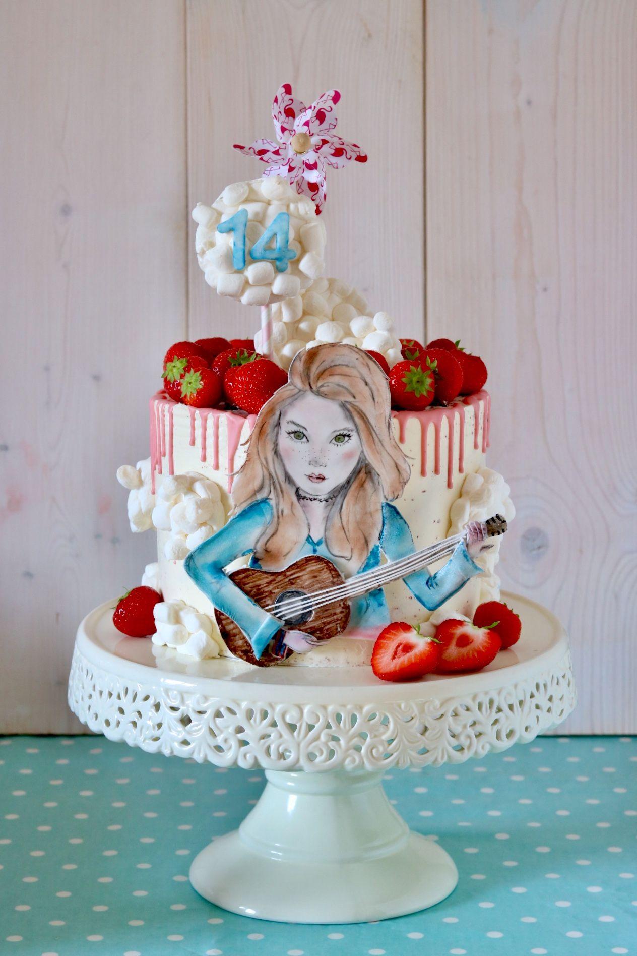 Motivtorte Geburtstagstorte Fur 14 Jahre Madchen Mit Schokolade