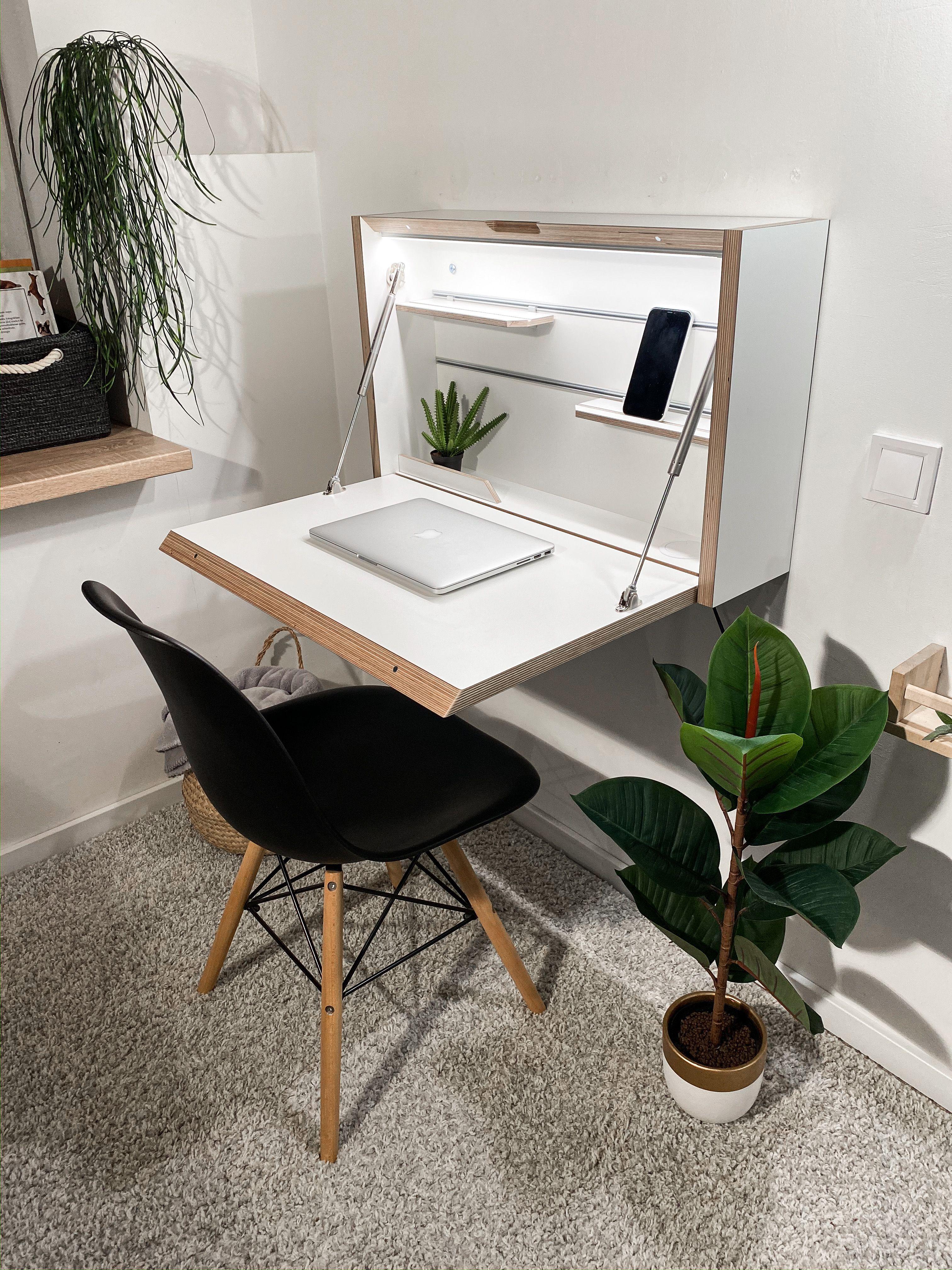 Wall Mounted Folding Desk Space Saving Desk Office Desk Secretary