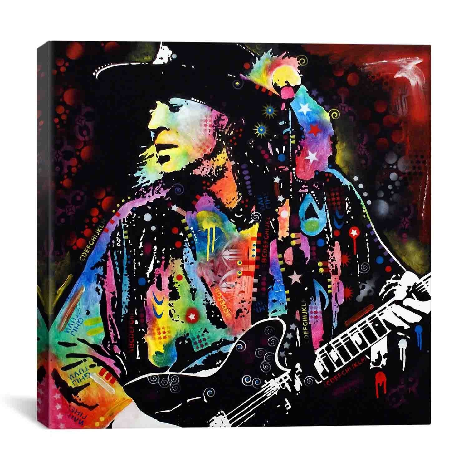 Icanvas Dean Russo Stevie Ray Vaughan Canvas Print Wall Art Overstock Com Shopping The Best Deals On Canvas Stevie Ray Vaughan Stevie Ray Dean Russo Art