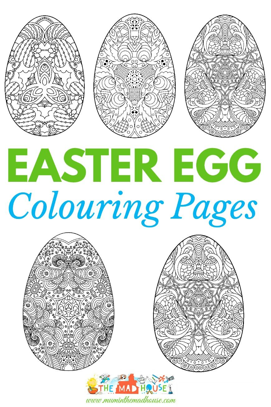 Coloring for adults mindfulness - Adult Easter Colouring Pages Intricate Eggs