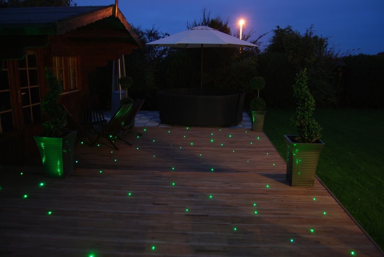 The fibre optic deck lighting as seen from the house outdoor the fibre optic deck lighting as seen from the house aloadofball Gallery