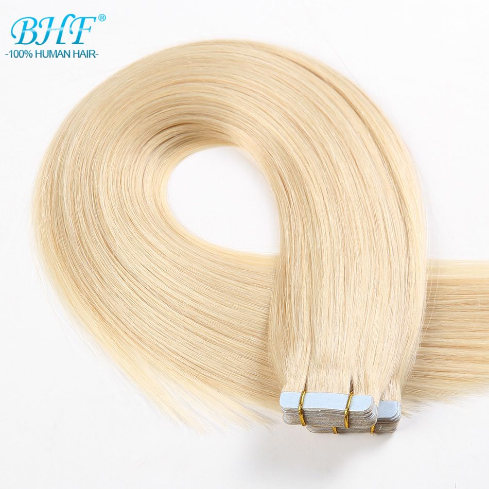 Bhf Tape In Human Hair Extensions Straight Tape In Extensions Human