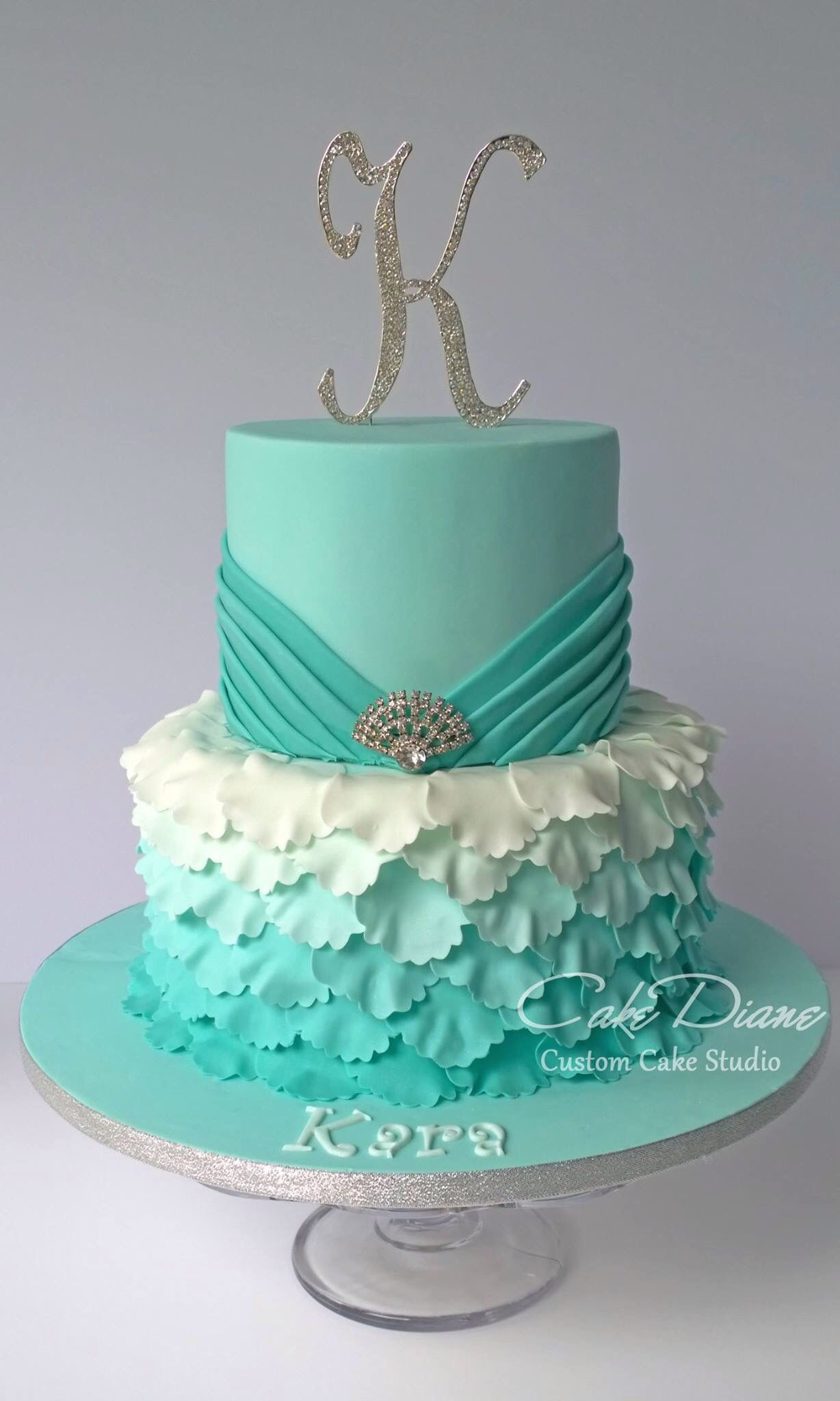 Astounding Jade Petal Cake Sweet 16 Birthday Cake 16Th Birthday Cake For Personalised Birthday Cards Paralily Jamesorg