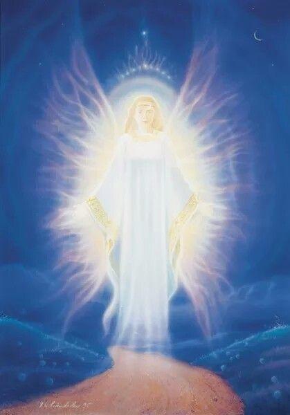 Ангел в сиянии картинка