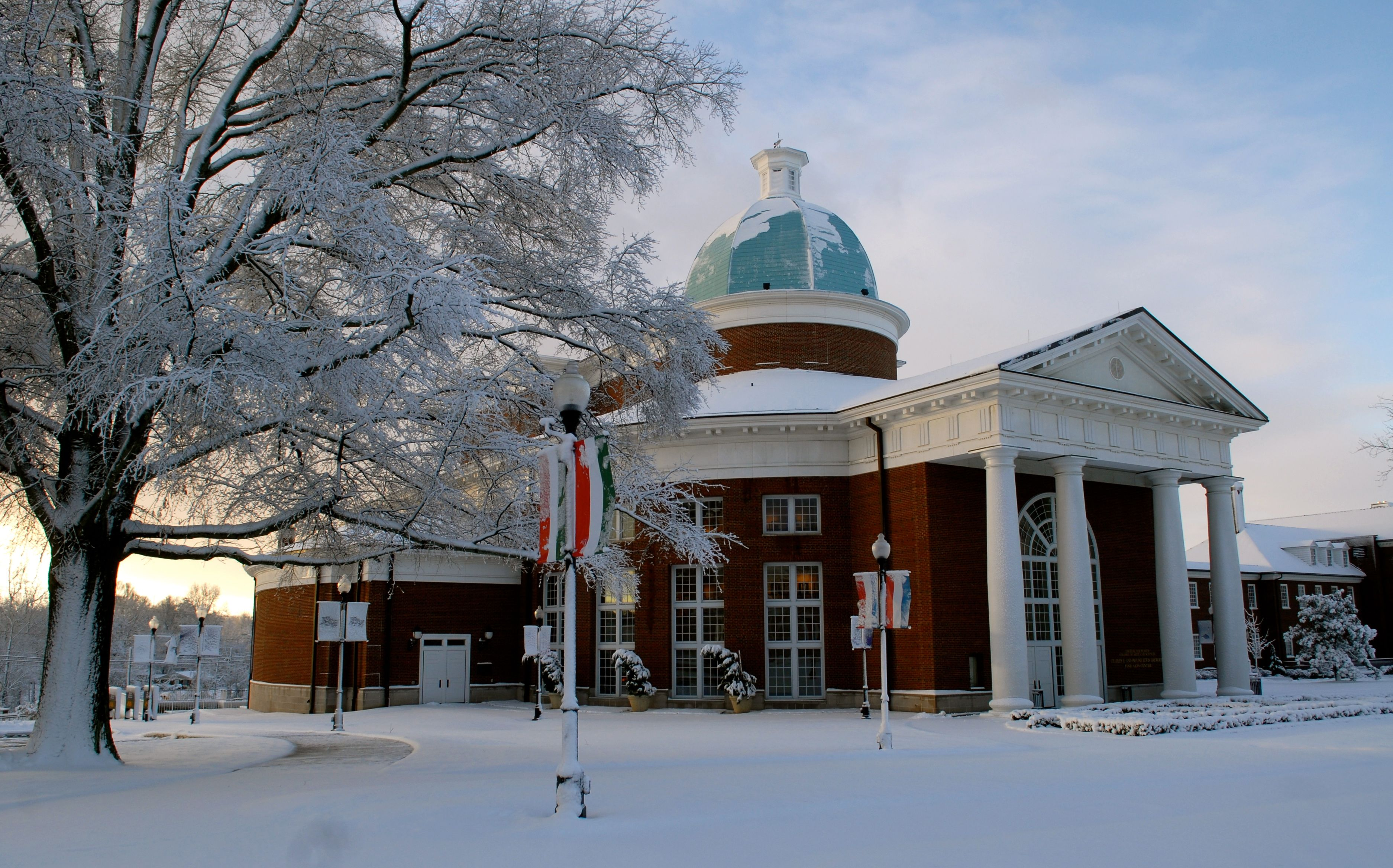 Fine arts building during the winter time high point