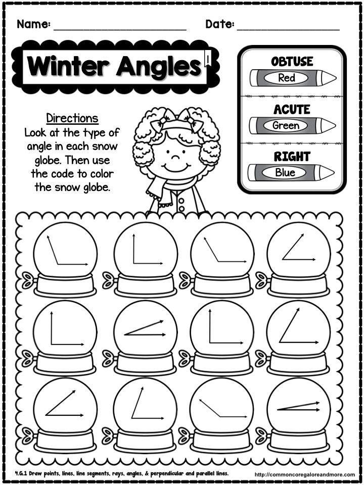 Winter No Prep Math 4th Grade 4th grade math, Fourth