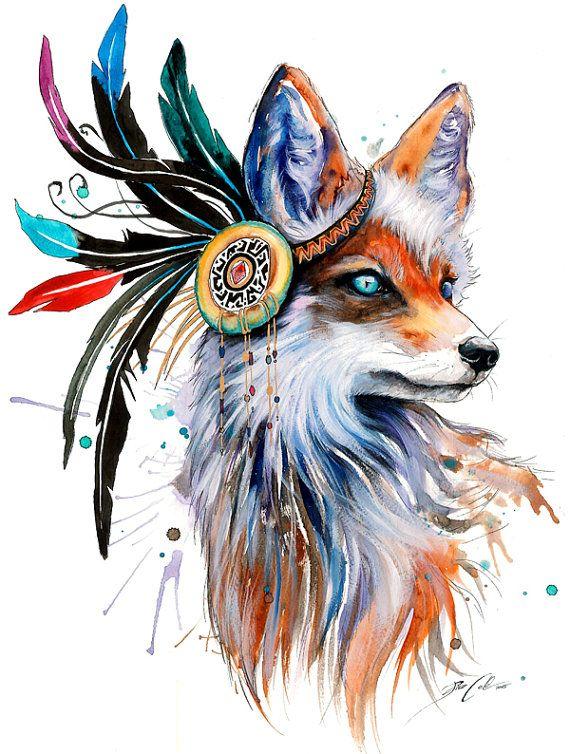 Haz Pixie fro  Fox  pintura como una alta calidad de impresin