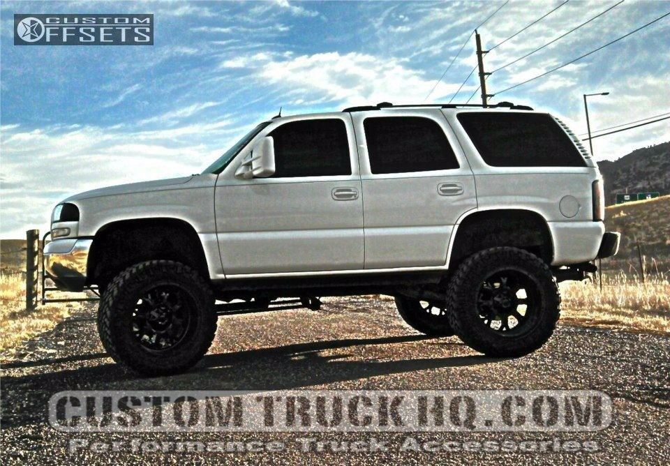 4 2005 Yukon Gmc Suspension Lift 9in Fuel Krank Black Gunmetal