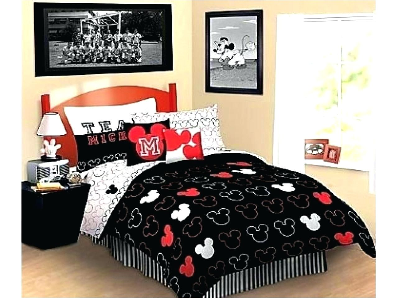 Minnie Mouse Comforter Set Queen Size Minnie And Mickey Mouse Bed Set Mickey Mouse Bedding Sets Mic Mickey Mouse Bedding Mickey Mouse Bedroom Mickey Mouse Room
