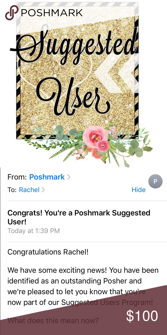 I'm a suggested user!!!! I just found out I'm a suggested user! 🍾🍾 kate spade Accessories